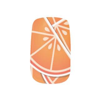 ファンキーなブラッドオレンジのくさび ネイルアート