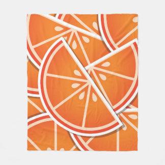 ファンキーなブラッドオレンジのくさび フリースブランケット
