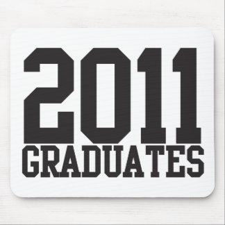 ファンキーなブロックのフォントの2011人の卒業生! マウスパッド