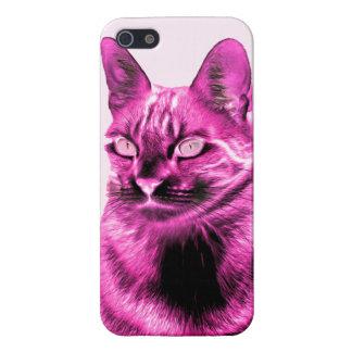ファンキーなマゼンタ猫の陰性 iPhone 5 CASE