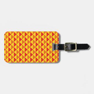 ファンキーなレトロのデザイン-赤か黄色 ラゲッジタグ