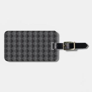 ファンキーなレトロのデザイン-黒か灰色 ラゲッジタグ