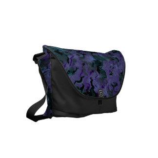 ファンキーなレトロの抽象芸術の木炭威厳のあるなアメジスト スモールメッセンジャーバッグ