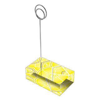 ファンキーなレモンくさび! テーブルカードホルダー