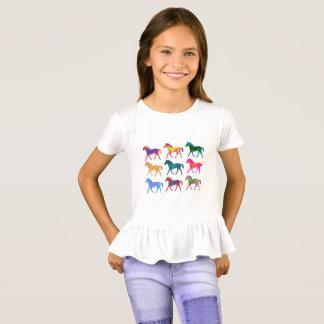 ファンキーな子馬の女の子のワイシャツ Tシャツ