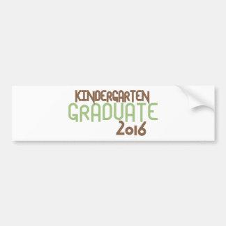 ファンキーな幼稚園の卒業生2016年(緑) バンパーステッカー