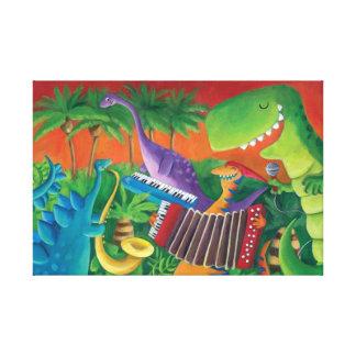 ファンキーな恐竜バンド キャンバスプリント