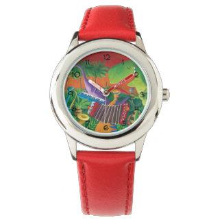 ファンキーな恐竜バンド 腕時計