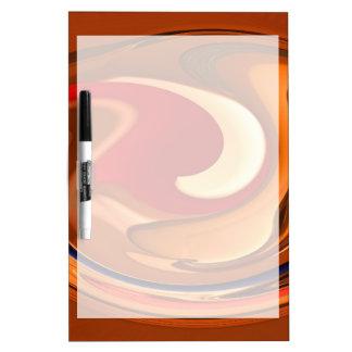 ファンキーな抽象芸術によって燃やされるオレンジおよび赤いデザイン ホワイトボード