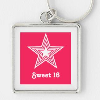 ファンキーな星の菓子16 Keychainのショッキングピンク キーホルダー