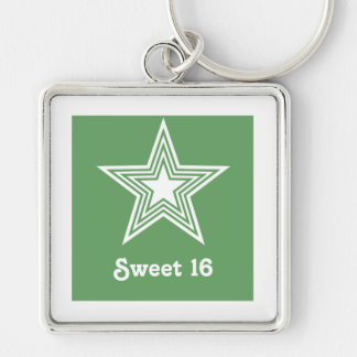 ファンキーな星の菓子16 Keychain、ケリーの緑 キーホルダー