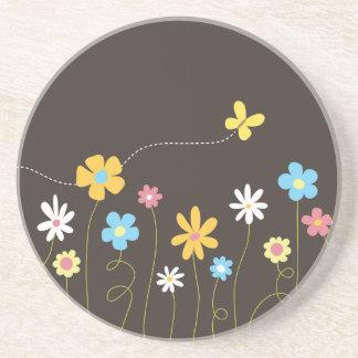 ファンキーな春の花 コースター