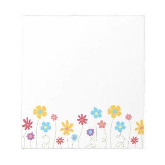 ファンキーな春の花 ノートパッド