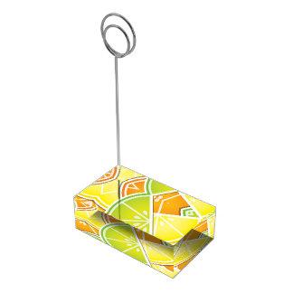 ファンキーな柑橘類のくさび テーブルカードホルダー