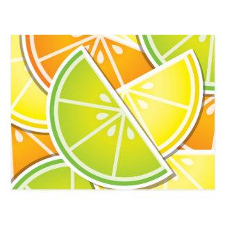 ファンキーな柑橘類のくさび ポストカード