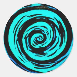 ファンキーな水の催眠性の渦巻の芸術 ラウンドシール