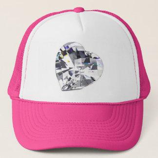 ファンキーな水晶ハートの帽子 キャップ