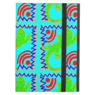ファンキーな水玉模様のトカゲパターン動物のデザイン iPad AIRケース