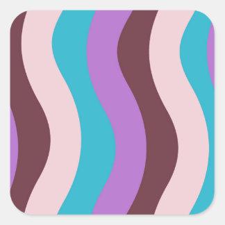 ファンキーな波は縞で飾ります スクエアシール