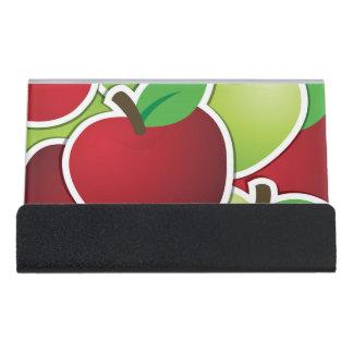 ファンキーな混合されたりんご デスク名刺ホルダー