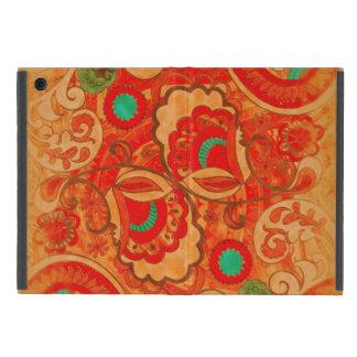 ファンキーな燃やされたオレンジ赤のターコイズのヴィンテージのペイズリー iPad MINI ケース