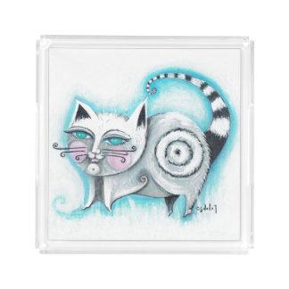 ファンキーな猫のアクリルの皿 アクリルトレー