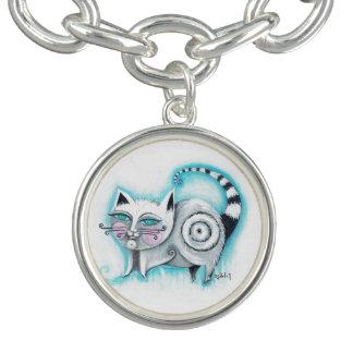 ファンキーな猫のチャームブレスレット チャームブレス