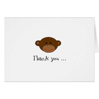 ファンキーな猿はノート感謝していしています カード