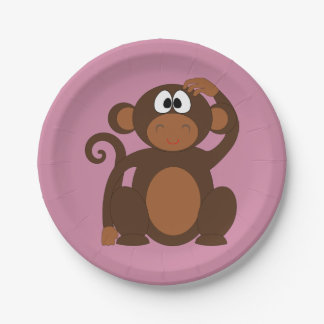 ファンキーな猿 ペーパープレート