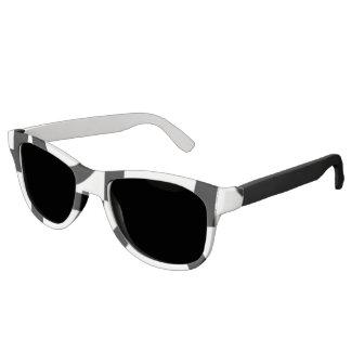 ファンキーな白黒デザイン サングラス