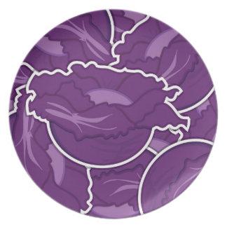 ファンキーな紫色のキャベツ プレート