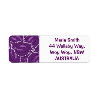 ファンキーな紫色のキャベツ ラベル