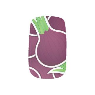 ファンキーな紫色タマネギ ネイルアート