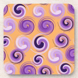 ファンキーな紫色 コースター