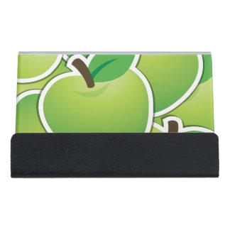 ファンキーな緑のりんご デスク名刺ホルダー