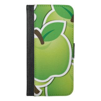 ファンキーな緑のりんご iPhone 6/6S PLUS ウォレットケース