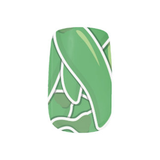 ファンキーな緑のチリペッパー ネイルアート