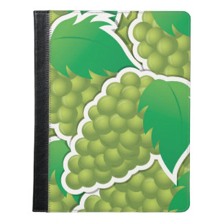 ファンキーな緑のブドウ iPadケース