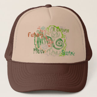 ファンキーな緑の帽子 キャップ