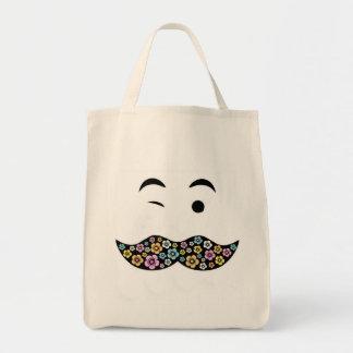 ファンキーな花の髭 トートバッグ