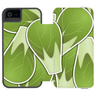 ファンキーな芽キャベツ iPhone SE/5/5sウォレットケース