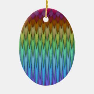 ファンキーな虹の抽象芸術のフラクタルの芸術 セラミックオーナメント