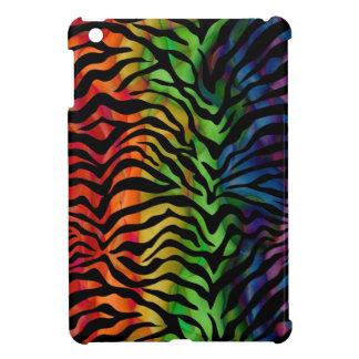 ファンキーな虹の野生のシマウマパターン iPad MINI カバー