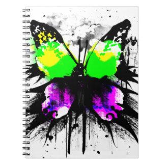 ファンキーな蝶ノート ノートブック