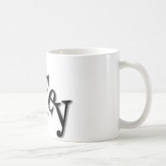 ファンキーな赤いハートとのWifey コーヒーマグカップ