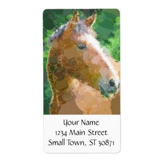 ファンキーな馬は泡近代美術を一周します ラベル