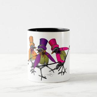 ファンキーな鳥のブギウギ ツートーンマグカップ