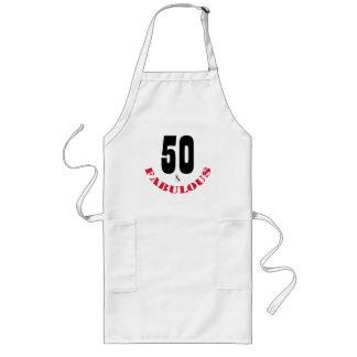 ファンキーな50およびすばらしい誕生会のエプロン ロングエプロン