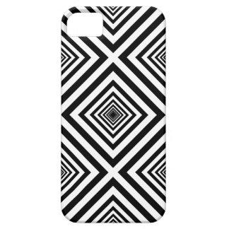 ファンキーな70年代の白黒はモザイク模様を平方します iPhone SE/5/5s ケース