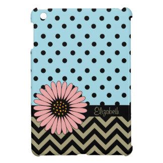 ファンキーなL'ilのデイジーの点のiPad Miniケース-青 iPad Miniケース